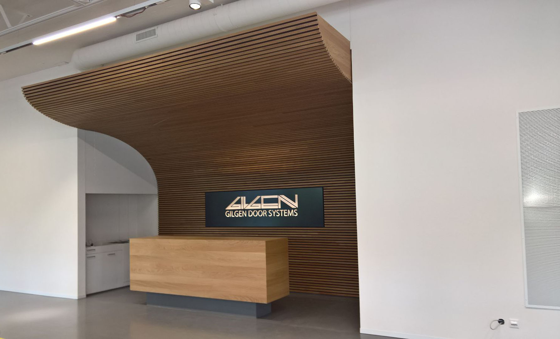 gilgen door systems, innenarchitektur showroom